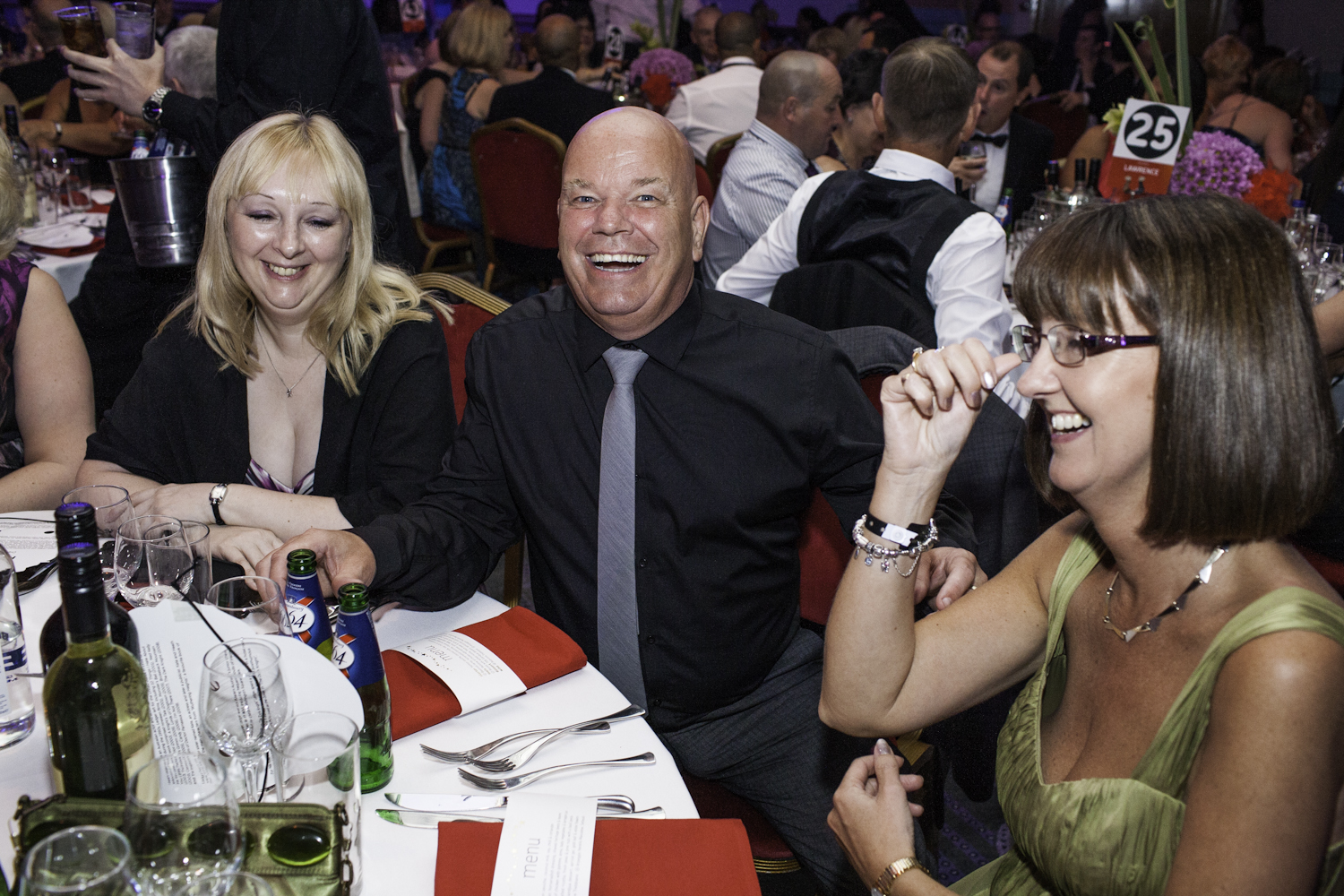 Employees of the Post Office enjoying themselves at the Troxy.