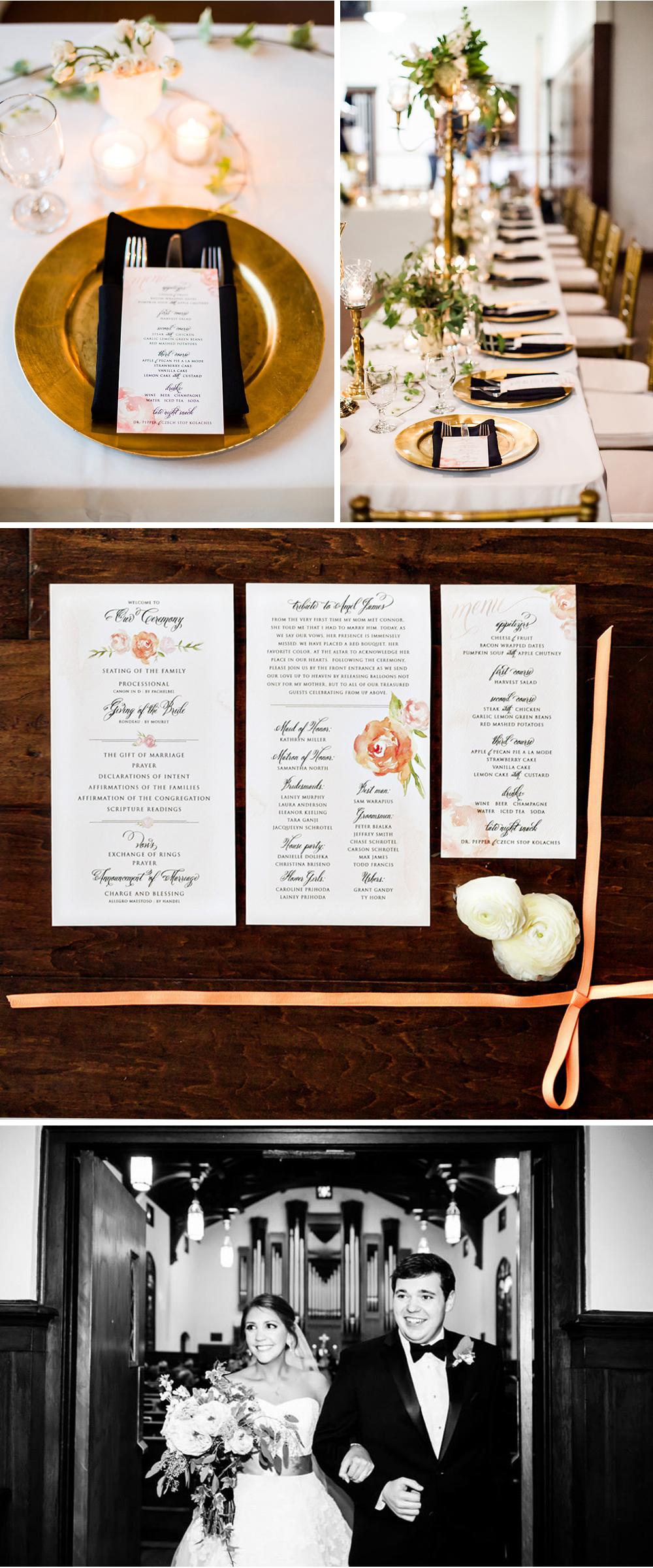 Wedding Suite Menus and Programs