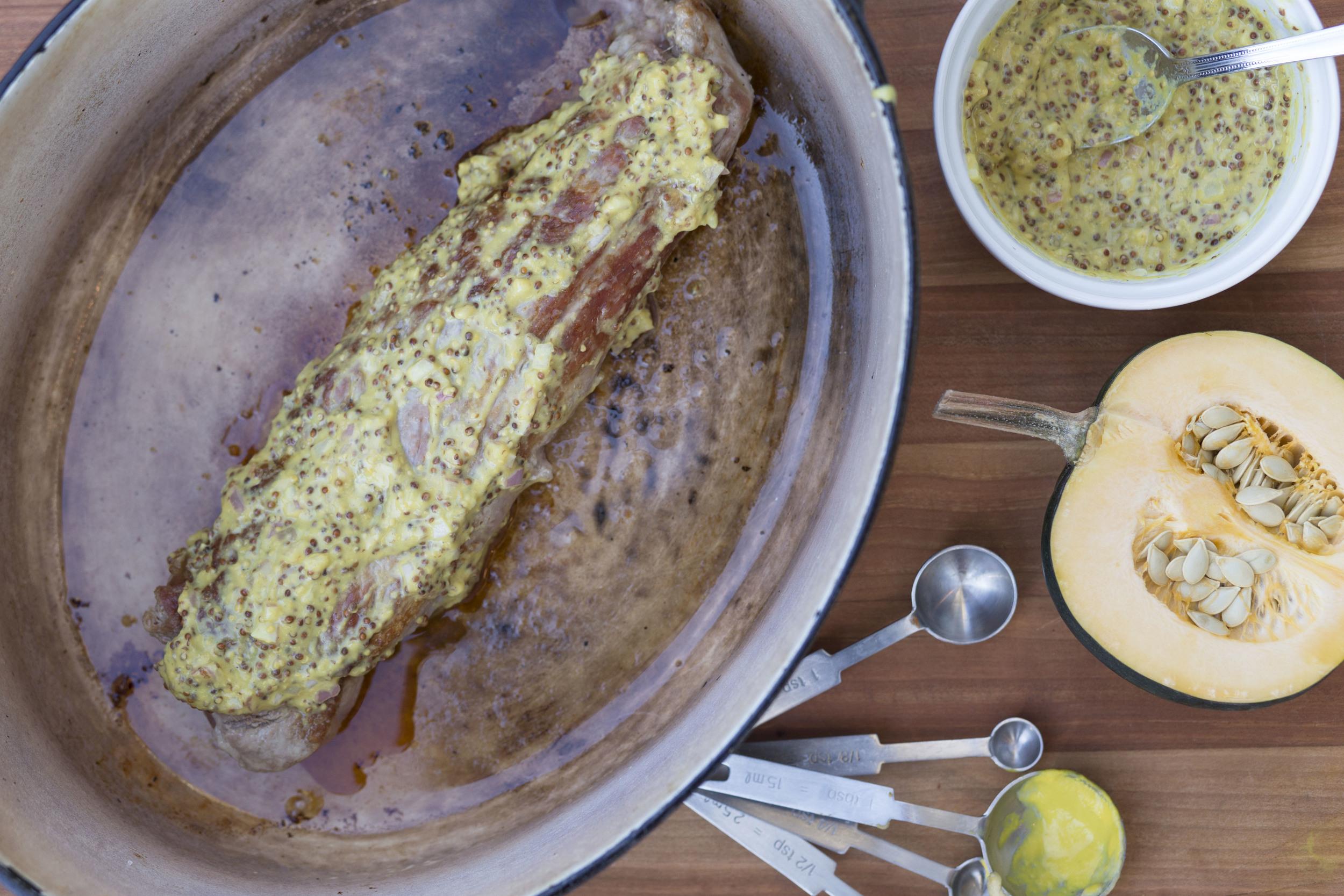 Roasted Pork Tenderloin with Mustard
