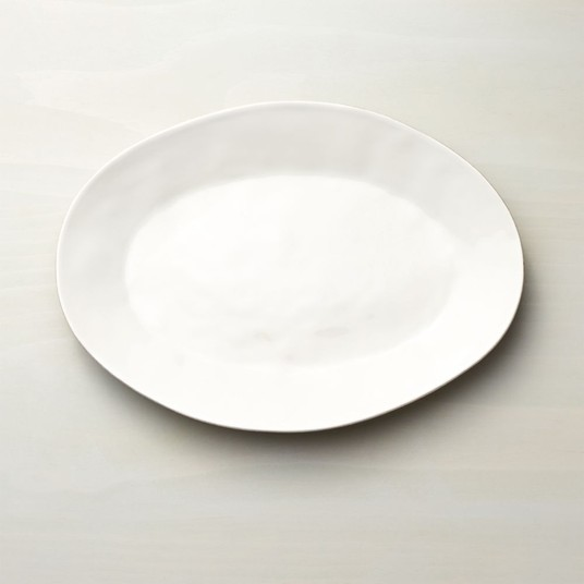 Marin White Small Oval Serving Platter // $30   A classic white platter never goes out of style. Have as many as your kitchen space allows.