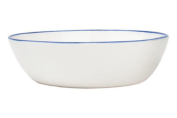 Canvas Abbesses Pasta Bowl Blue Rim // $18   I've been in love with Canvas Home Store since their flagship store was next to my old stomping ground, Haven's Kitchen, in NYC.