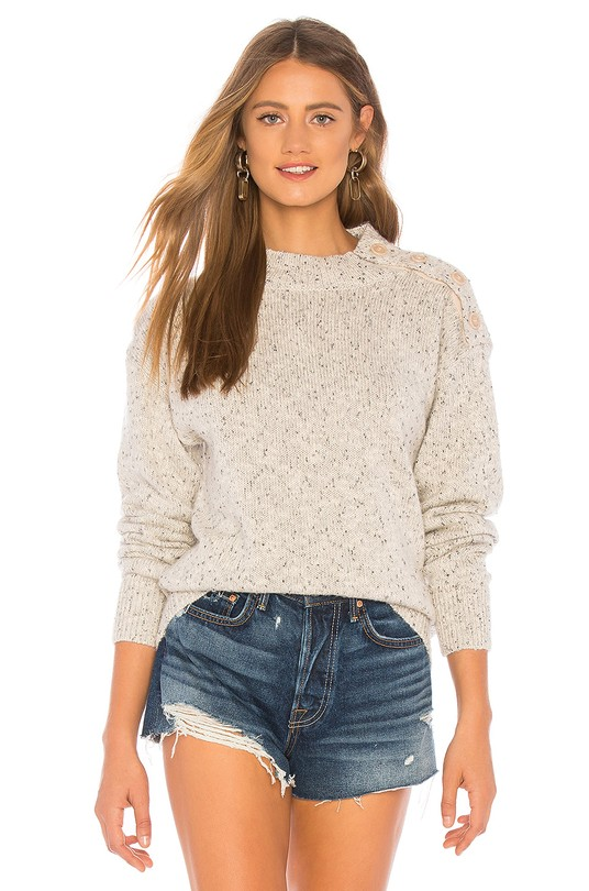 """Sanctuary Jasper Buttoned Sweater // $99   I love a shorts and chunky sweater combo. I'm a big fan of the term """"fancy, not fancy"""" when it comes to style. This sweater reads more luxurious than it is."""