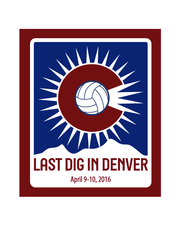 Logo for Last Dig in Denver volleyball tournament
