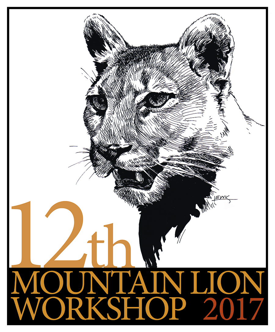 Logo for Mountain Lion Workshop with my ink illustration.