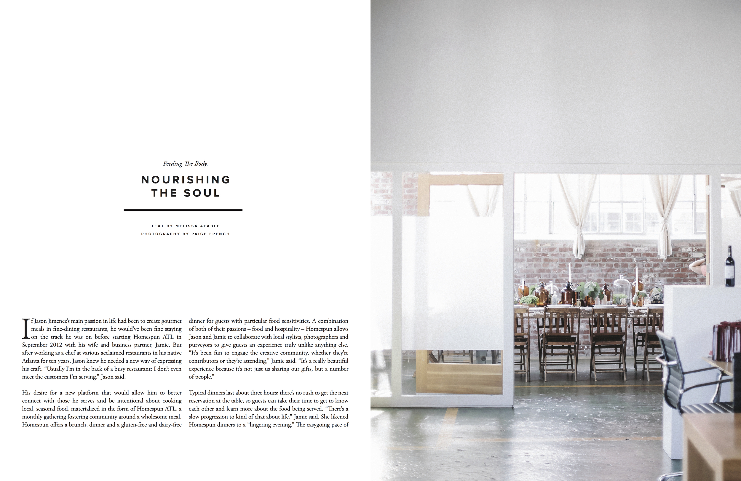 Nourishing the Soul for Trouvé Magazine