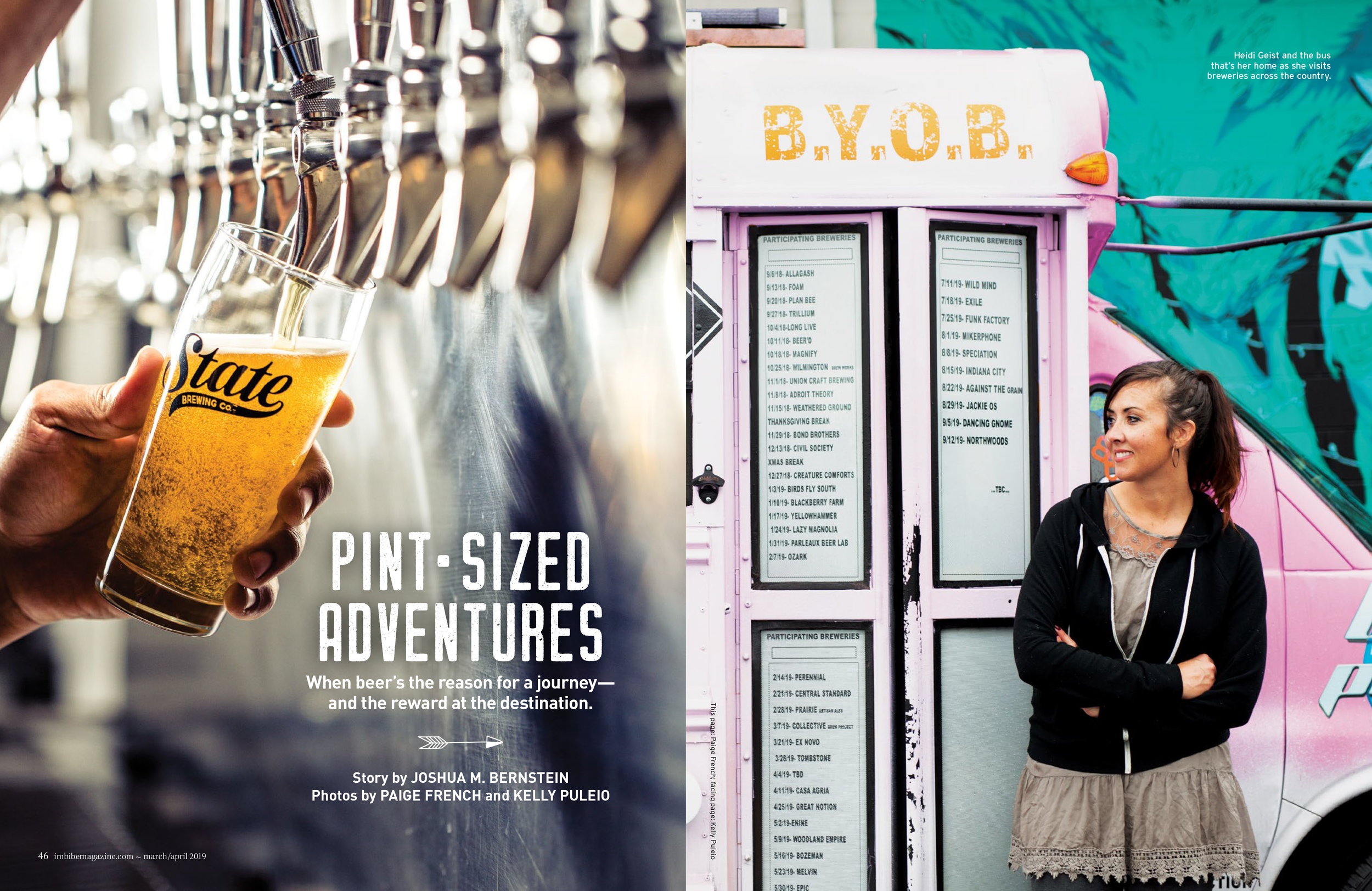 work for Imbibe Magazine: artist Heidi Geist & Creature Comforts Beer