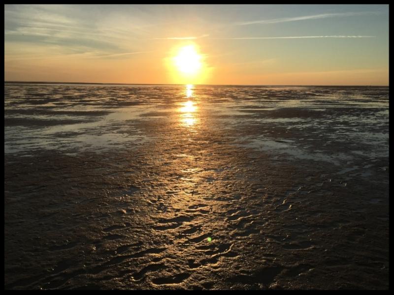 Sunset on Cape Cod Bay.