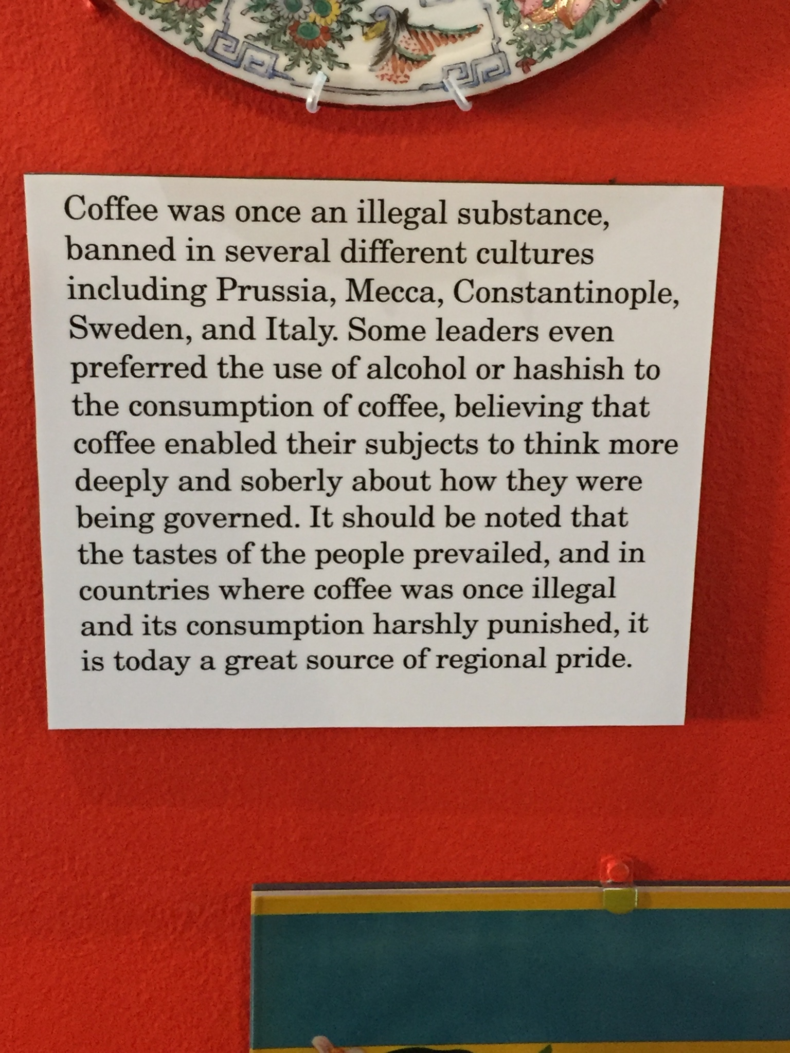 I love going to museums and learning little tidbits of information. Plus I enjoy coffee.