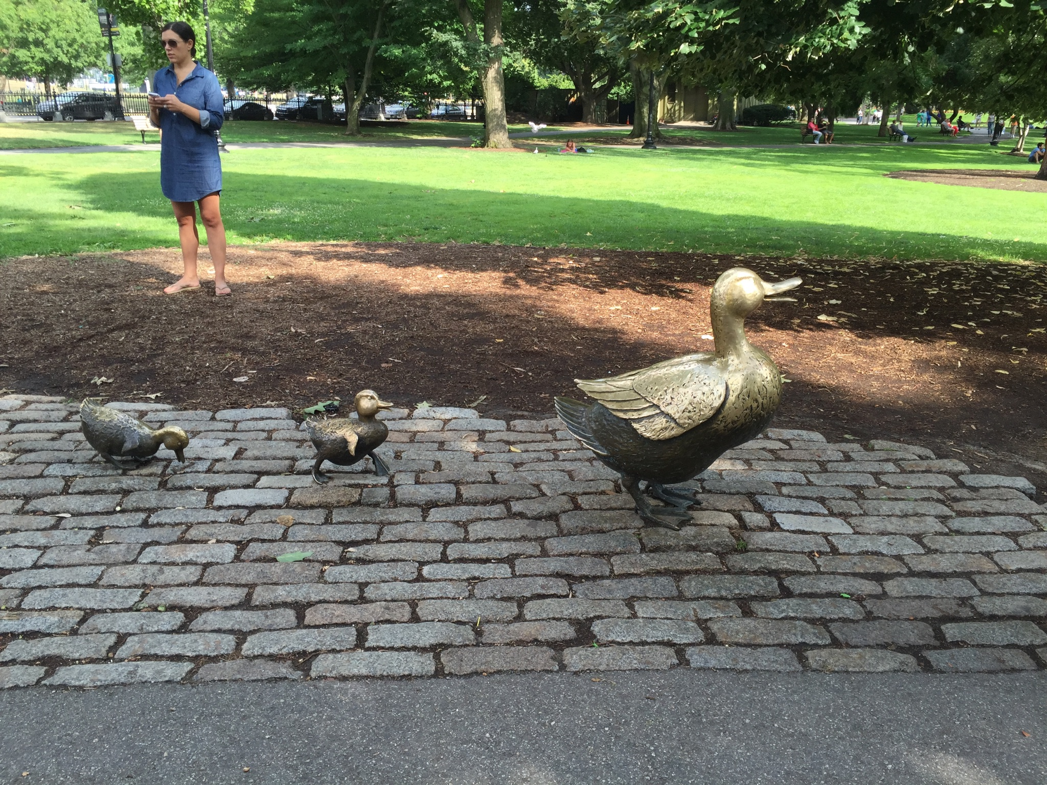 The Robert McCloskey  Make Way for Ducklings  statues in Boston's Public Garden. One of my favorite books as a child and one of my favorite cities.