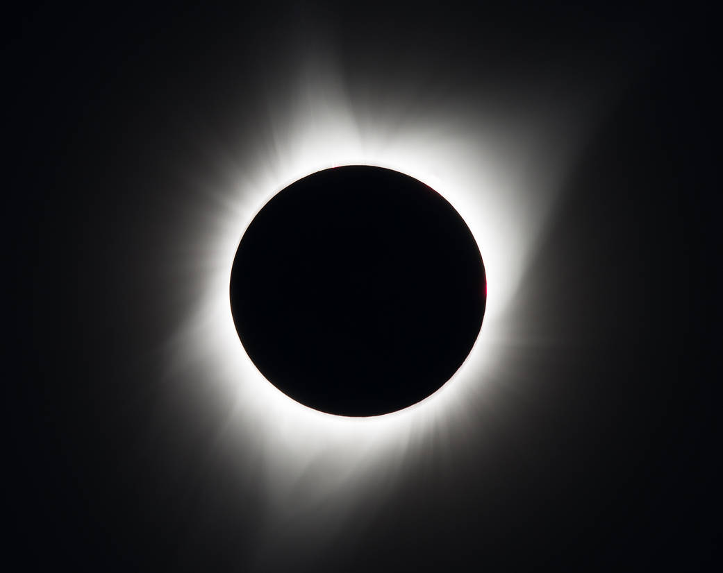 A total solar eclipse is seen on Monday, August 21, 2017 above Madras, Oregon. A total solar eclipse swept across a narrow portion of the contiguous United States from Lincoln Beach, Oregon to Charleston, South Carolina. A partial solar eclipse was visible across the entire North American continent along with parts of South America, Africa, and Europe.   Photo Credit: NASA/Aubrey Gemignani    Last Updated: Aug. 21, 2017 Editor: Gary Daines:  Website: https://www.nasa.gov/image-feature/2017-total-solar-eclipse