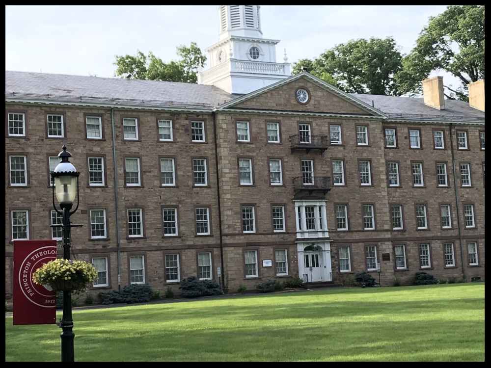 Alexander Hall. The first professor in 1812 when the seminary was founded- Archibald Alexander.