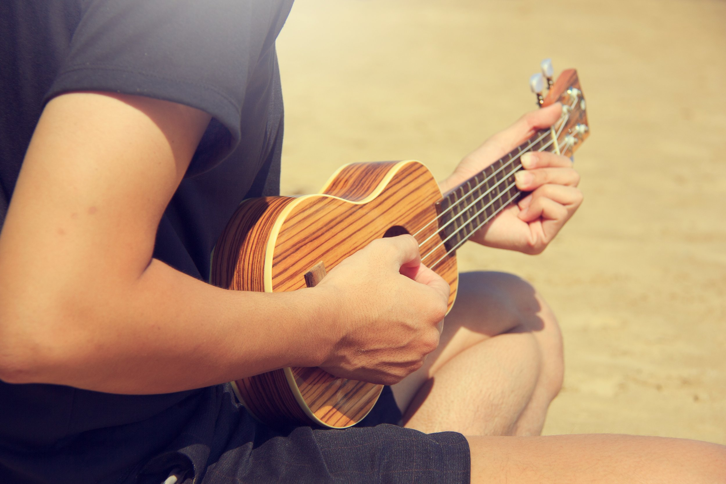 When the tension is right, a ukulele has such a happy sound.