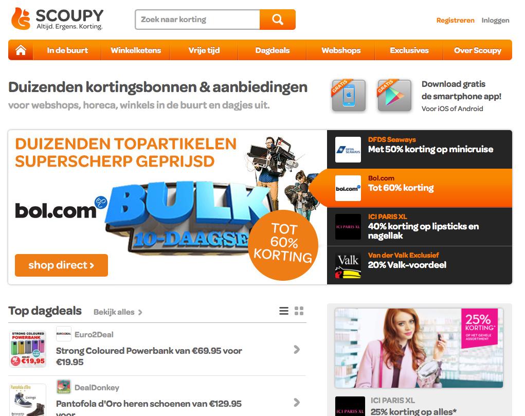Soupy Website screenshot