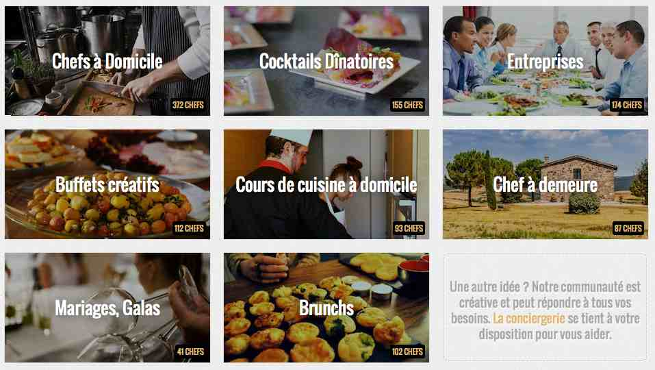 La belle assiette website: a personal chef for every occasion