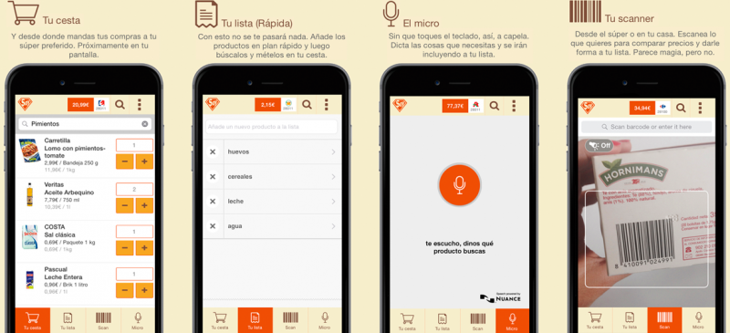 SoySuper app explained: make grocery lists using microphone or scanner