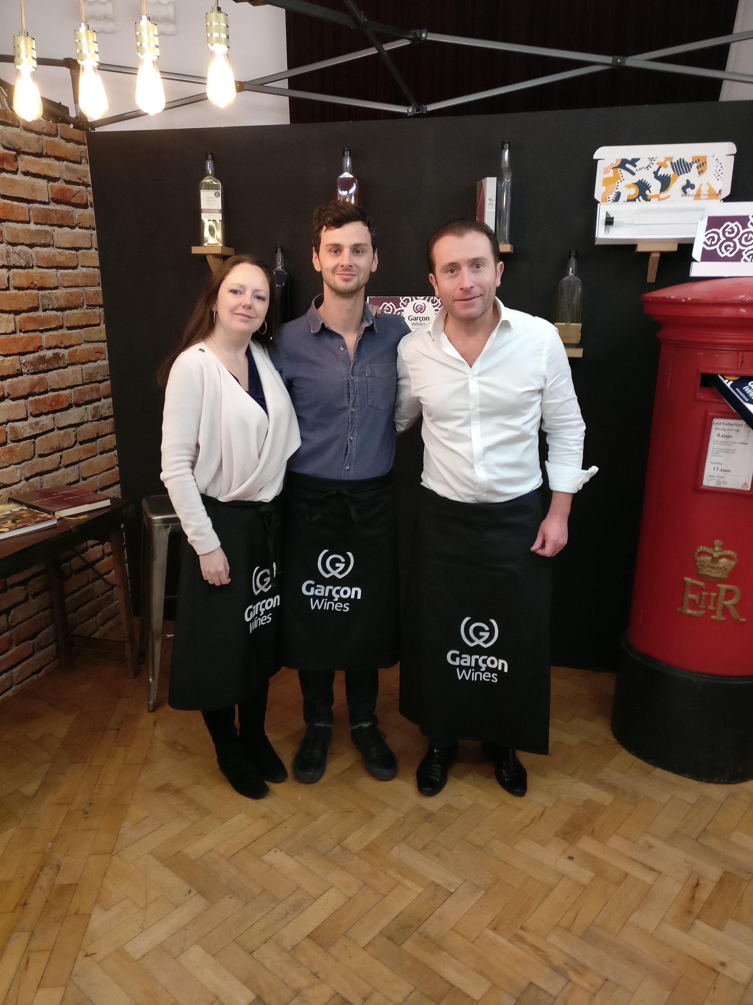 Rachel, Joe and Santiago, the team behind Garçon Wines