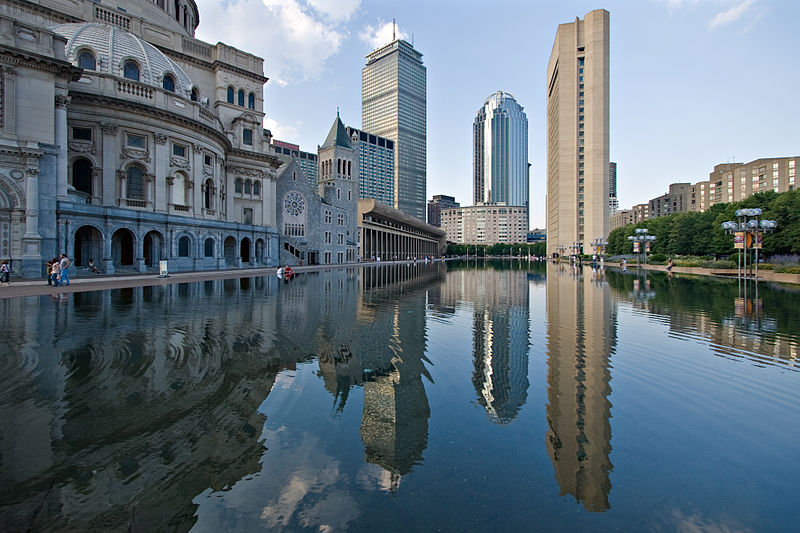 Christian Science reflecting pool, next to our Belvidere Street location