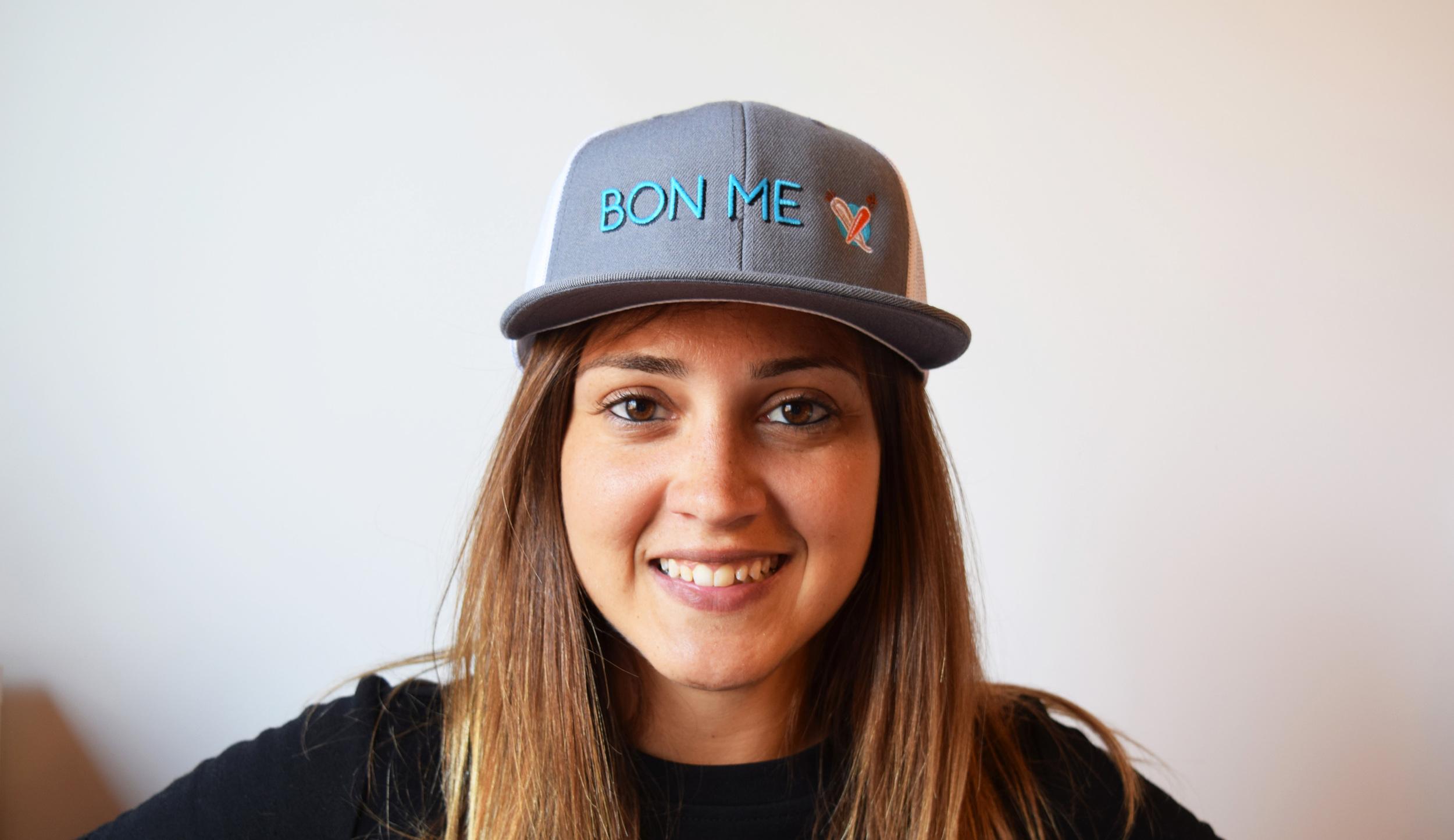 BON ME FLAT BASEBALL CAP   - $20