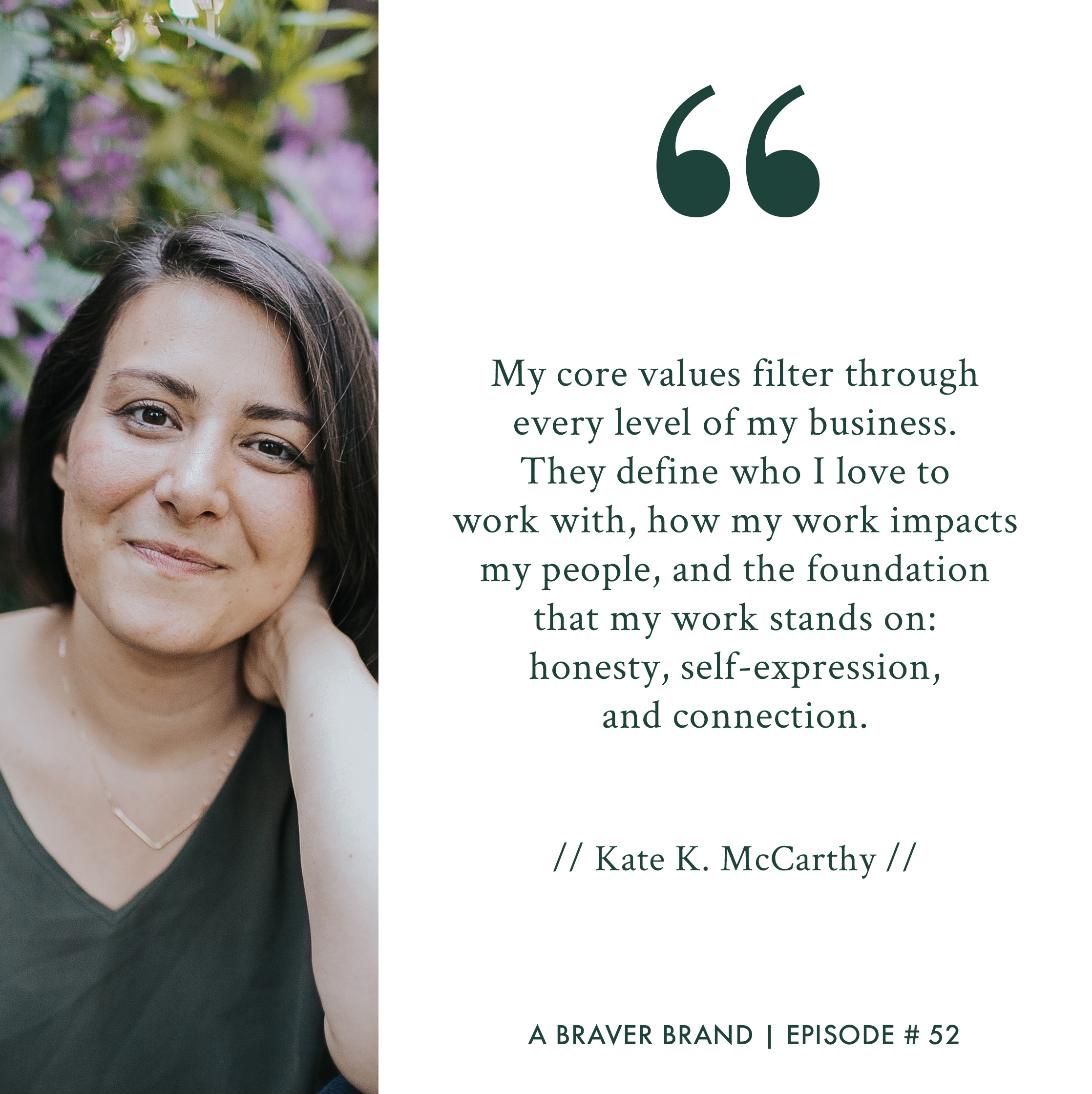 Kate K. McCarthy on core values & mission-driven entrepreneurship | A Braver Brand with Kate K. McCarthy