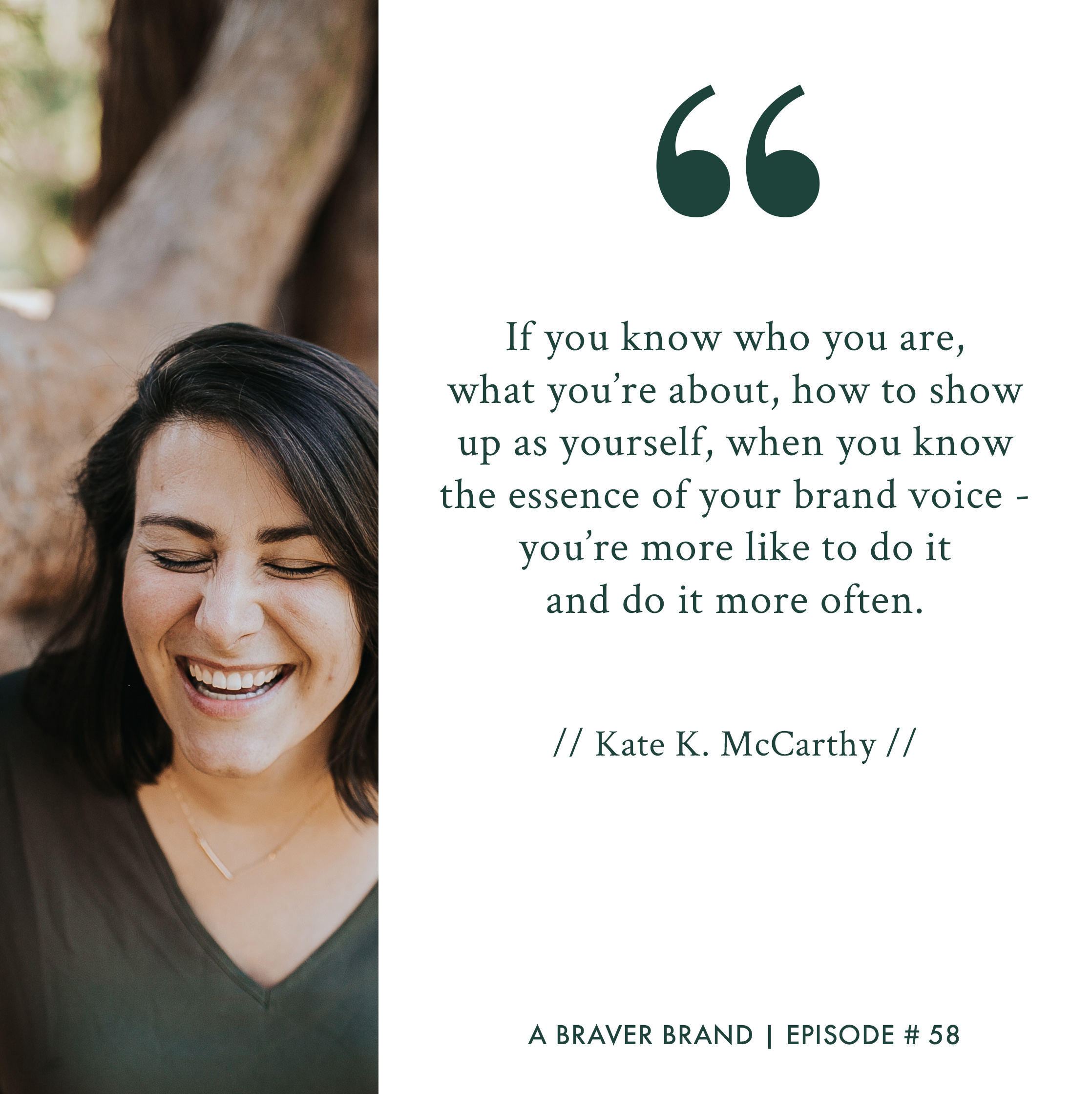 Kate K. McCarthy on your burning questions and where to start | A Braver Brand with Kate K. McCarthy
