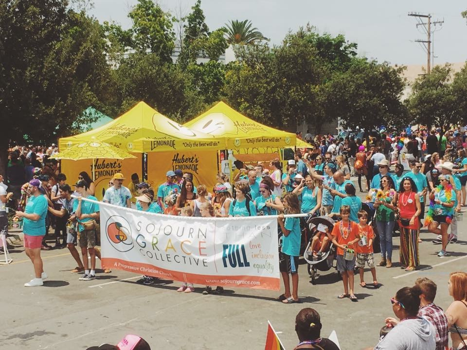 Marching in the 2017 SD Pride Parade