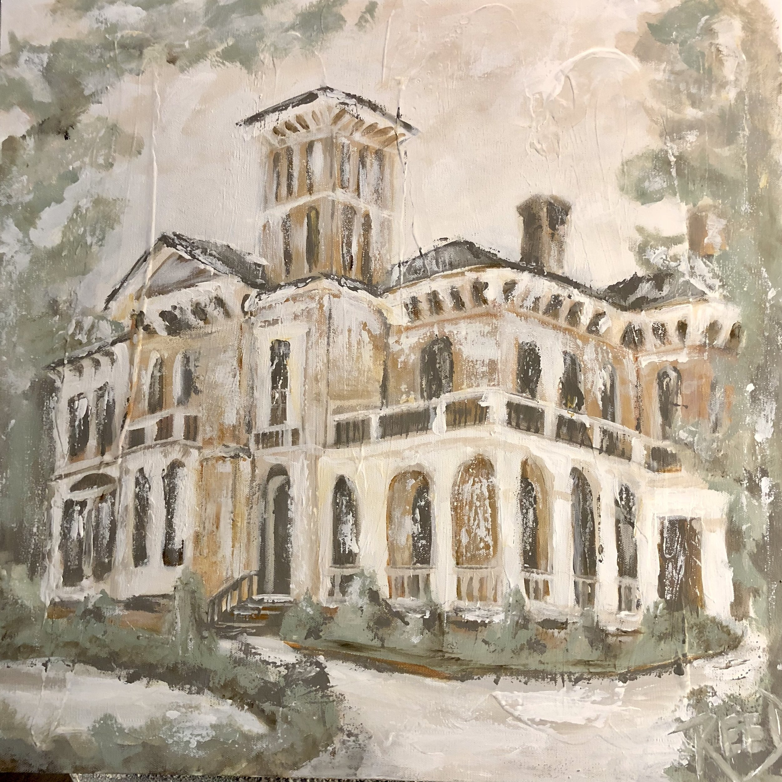 "Commissioned --   Annesdale Mansion, Memphis , TN  --24""x24"""