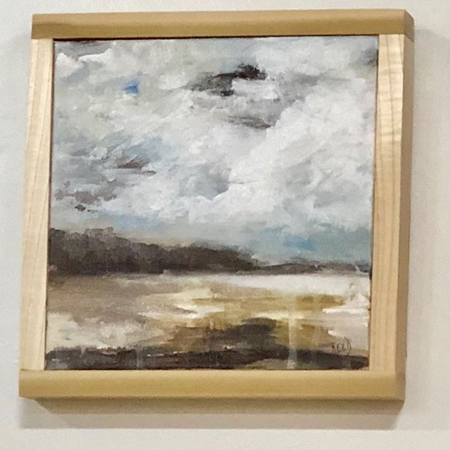 """Framed """"Cloud Study"""" #tryingsomethingnew #lovewatchingclouds #abstractlandscape #acryliconcanvas"""