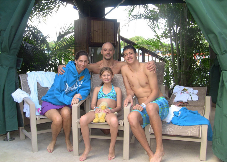 Two years after the accident, our first family vacation. It took a lot of planning, flexibility and accommodations, but we were able to enjoy our time together.