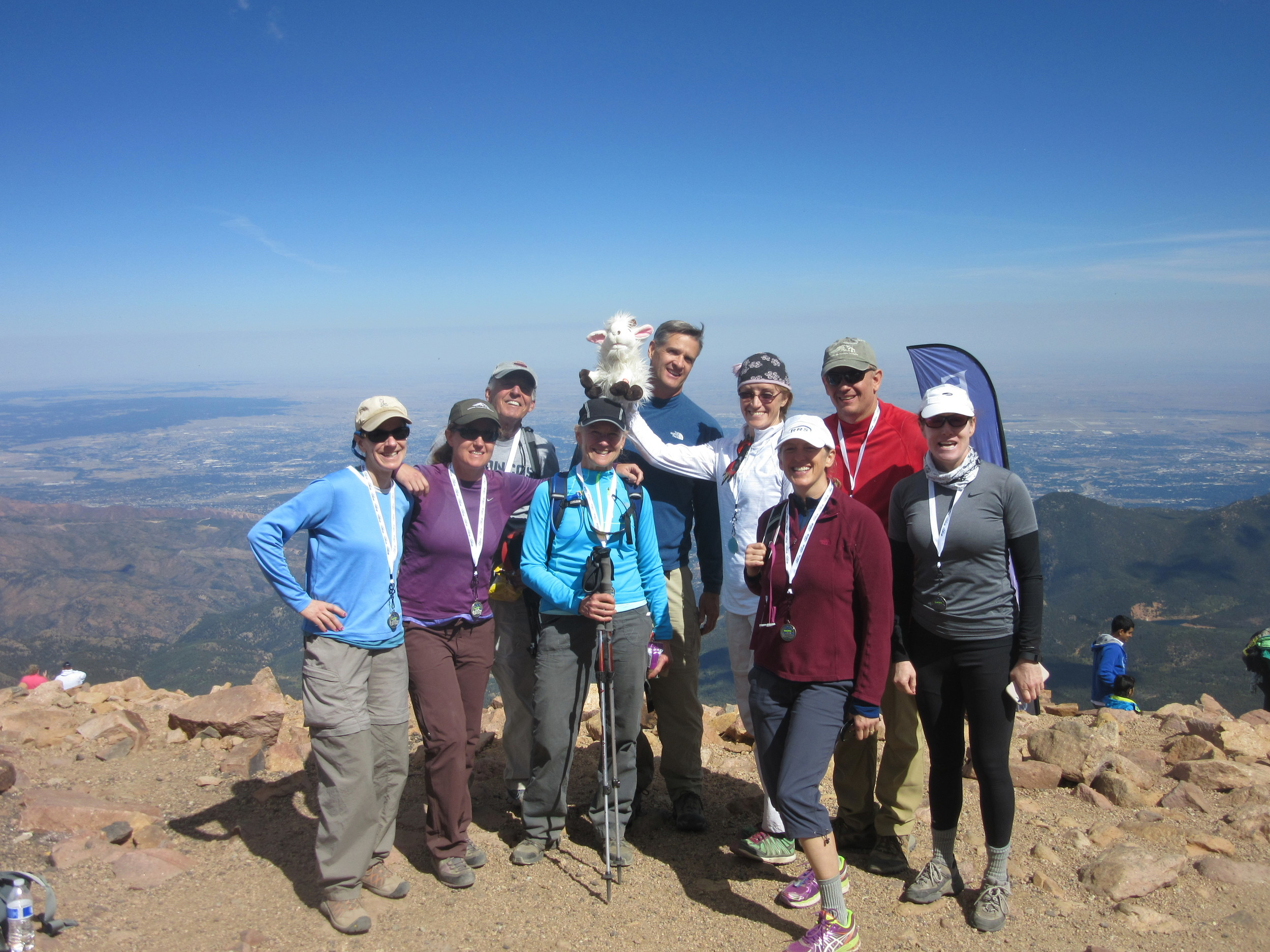 Team Simon at the top of Pikes Peak!