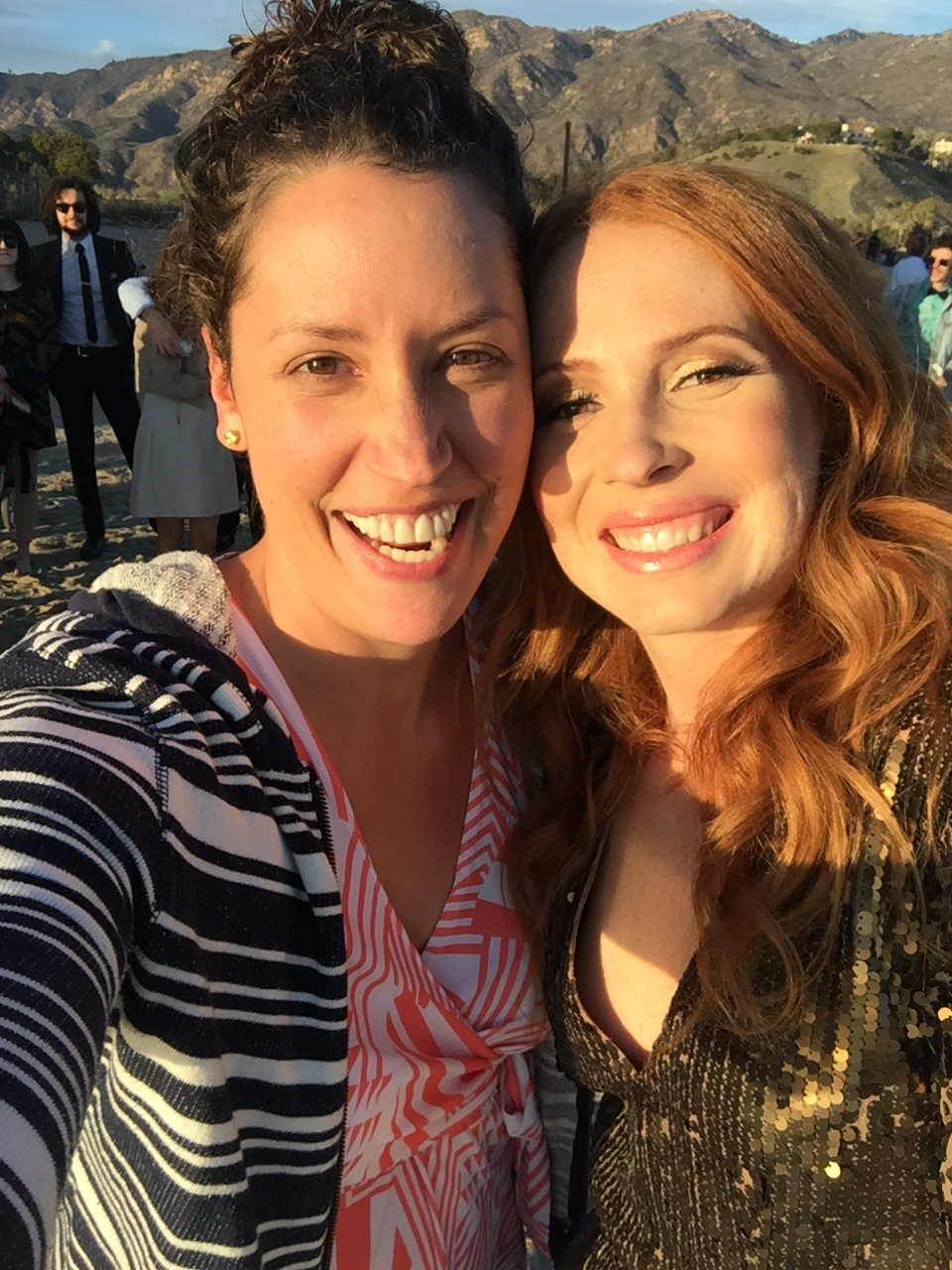 Me with my friend Melissa (who is the one that told me about Kevin's story and got me to watch The Crash Reel!) at her wedding in Malibu on New Year's Day.