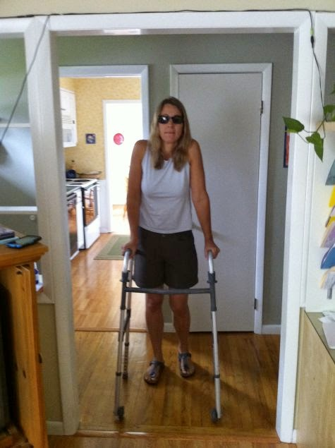 After my accident I had to use a walker to walk, which was the only visible challenge I had.