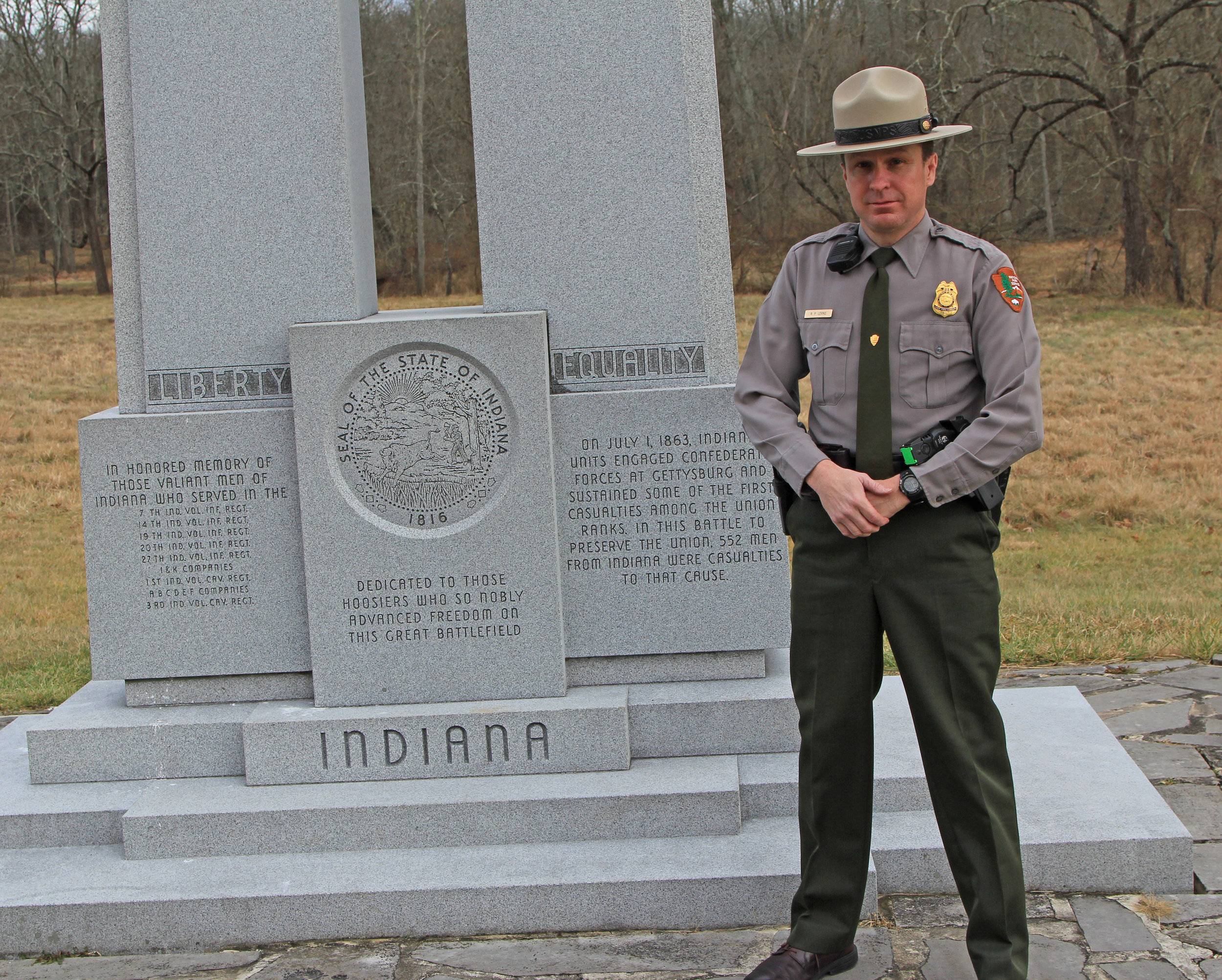Me as Chief ranger of Gettysburg National Military Park in 2014.
