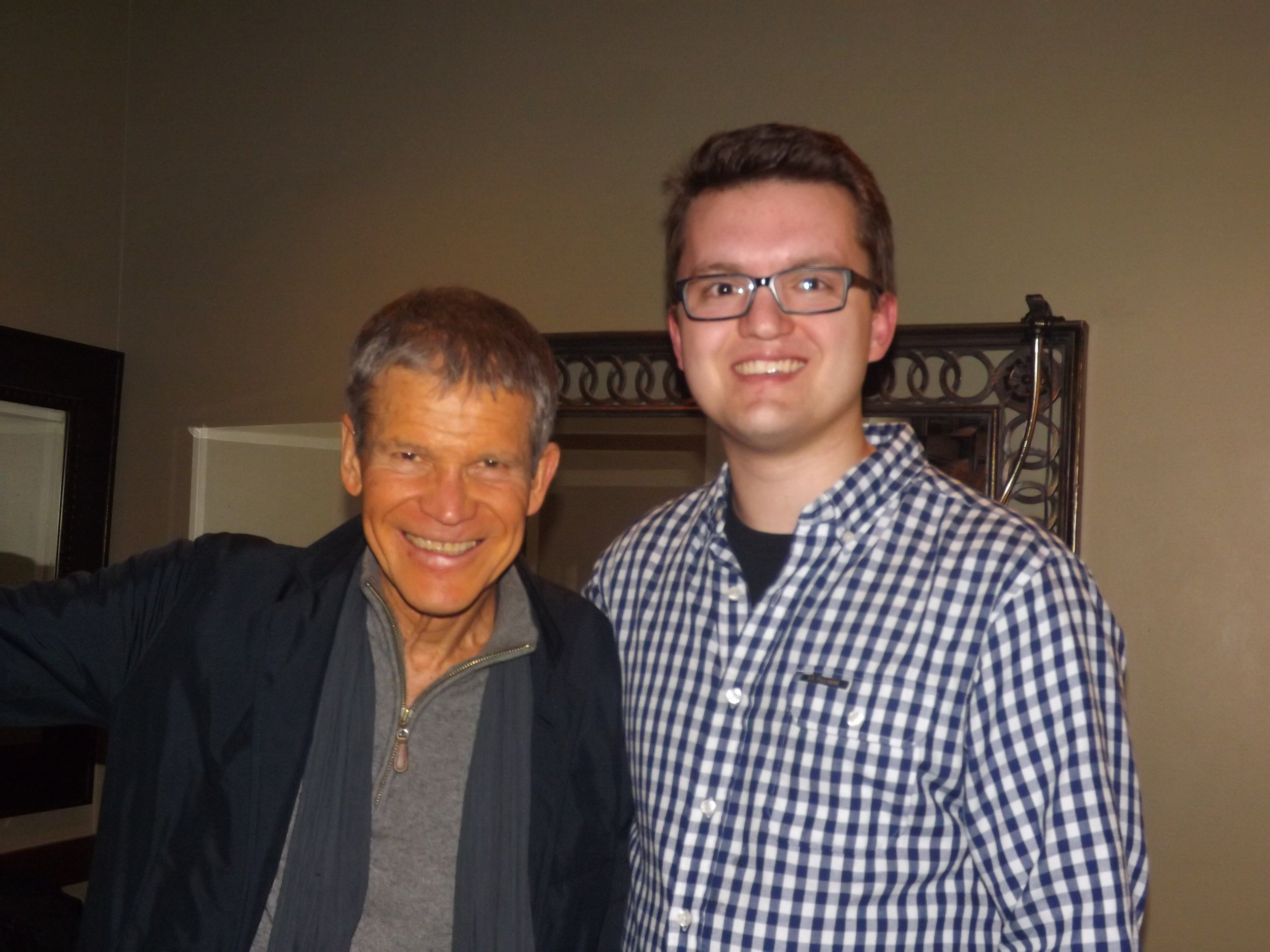 'Meeting my hero, sax legend David Sanborn who also overcame paralysis with music. He's been a big inspiration!'