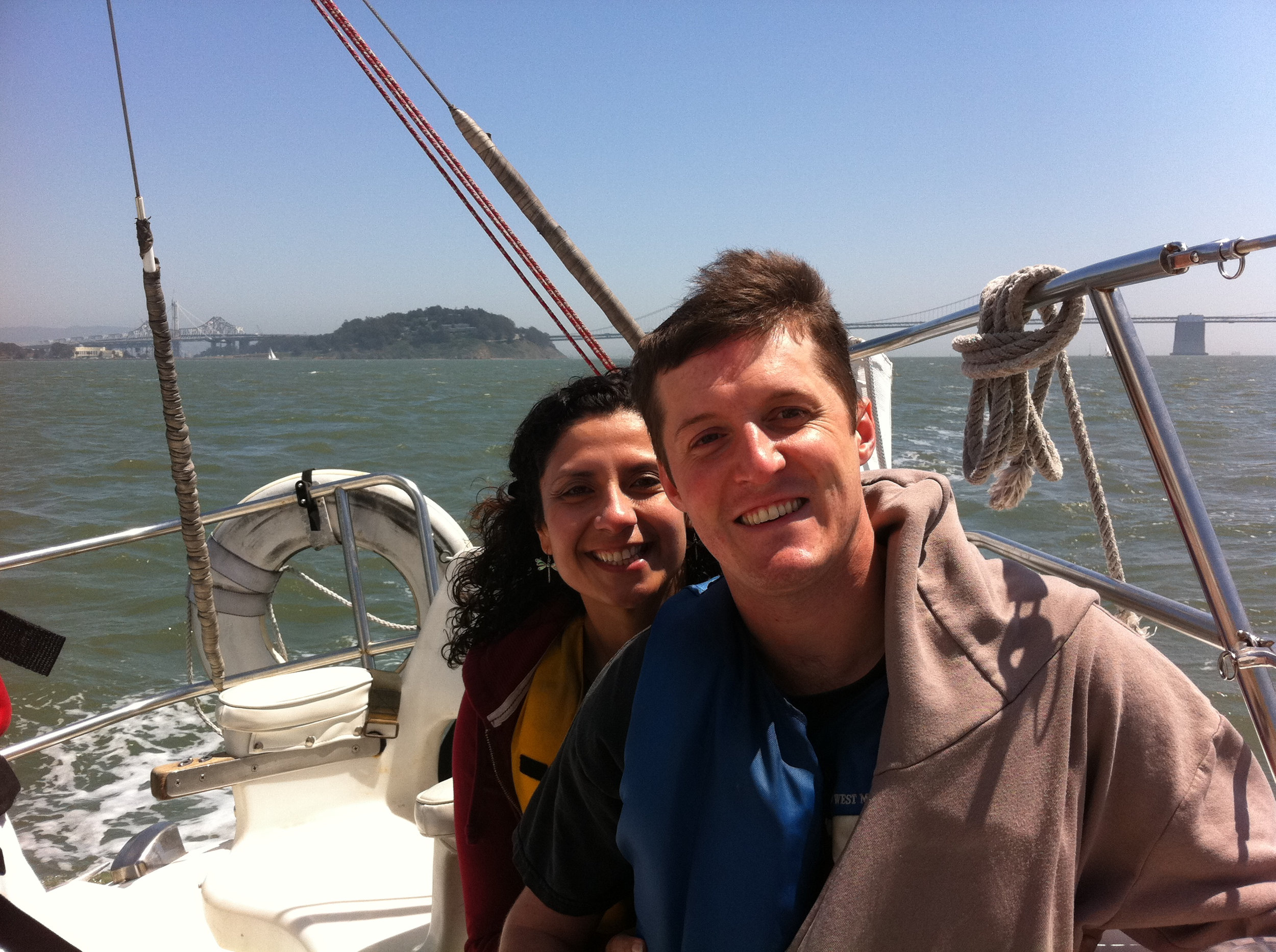 We love to sail with the Bay Area Association of Disabled Sailors.