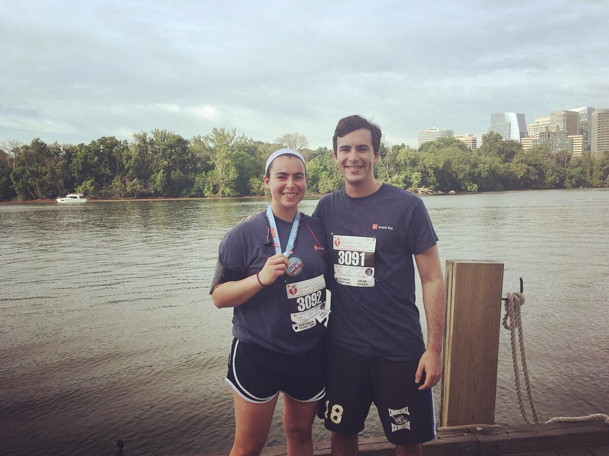 In June I ran my first 5k where I could see single and clear the whole time and had my heart rate in check. It was a HUGE deal for me and I loved that I got to do it alongside my big brother who's had my back at every point in this journey.
