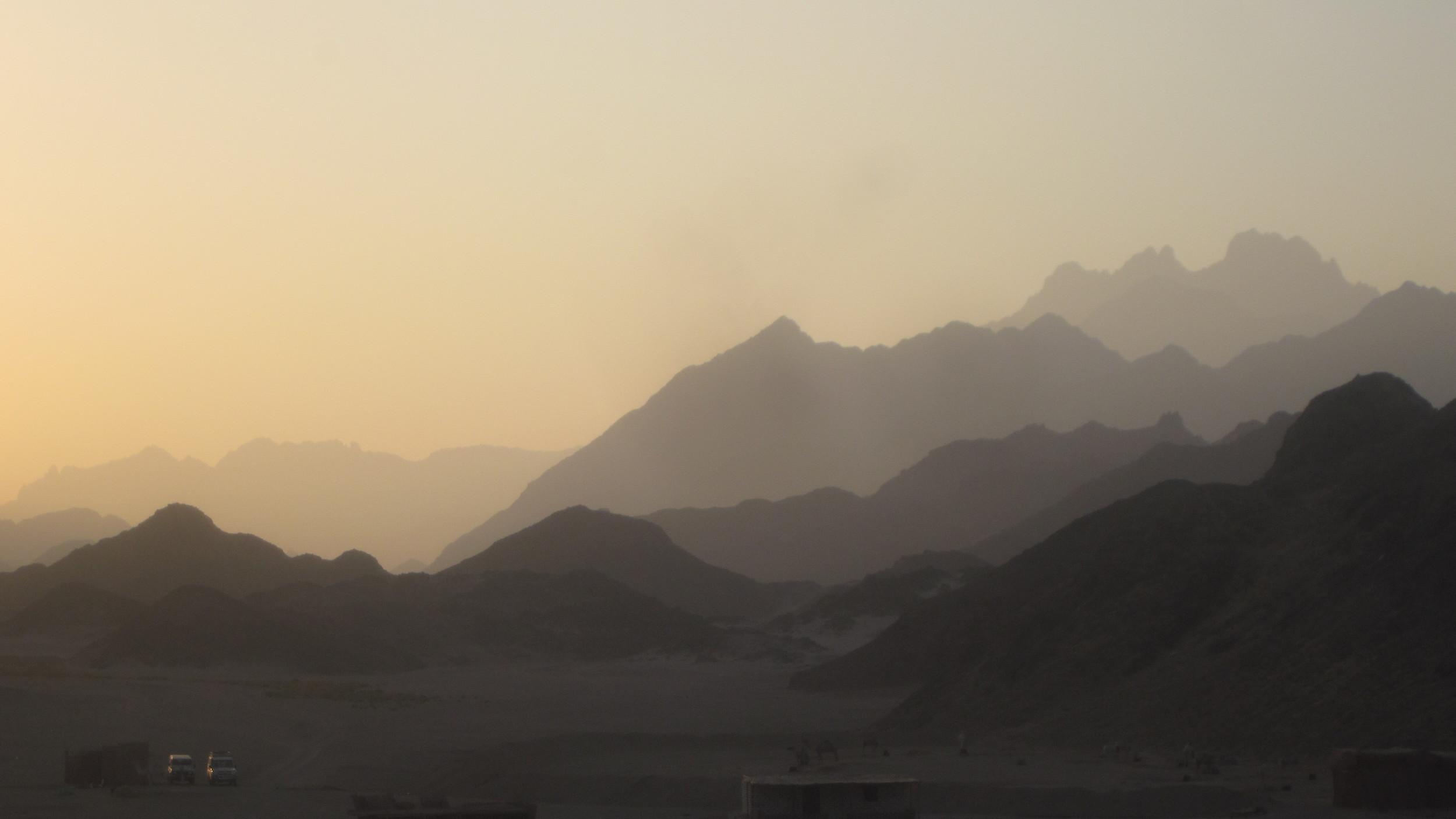 Egyptian desert at dusk - stunning!