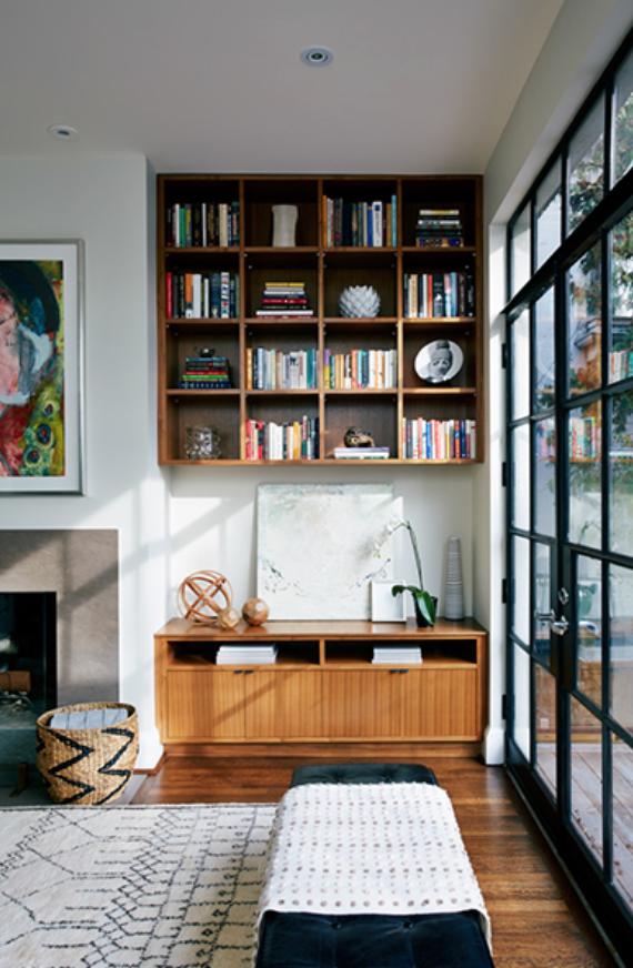 Modern Shelves by JGInteriors