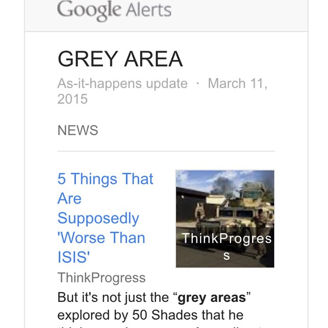 We hope not! #greygooglealerts