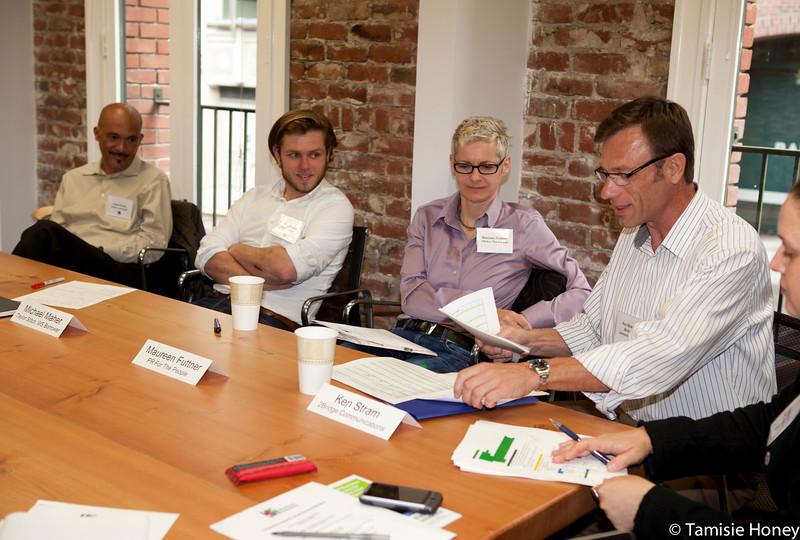 Volunteer mentors at an Entrepreneur Insights Workshop