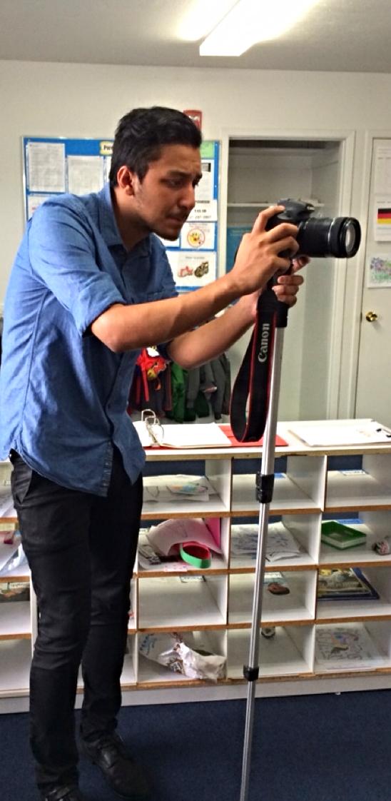 Ace intern Alex on a client shoot
