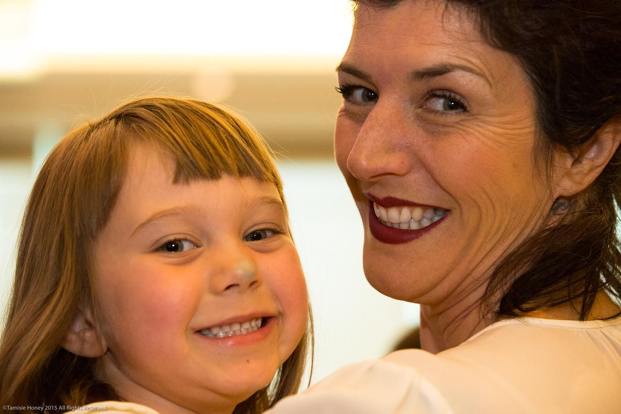 Serafina Palandech, 2015 Imagine Awardwinner, and daughter Rubyrose Johnson