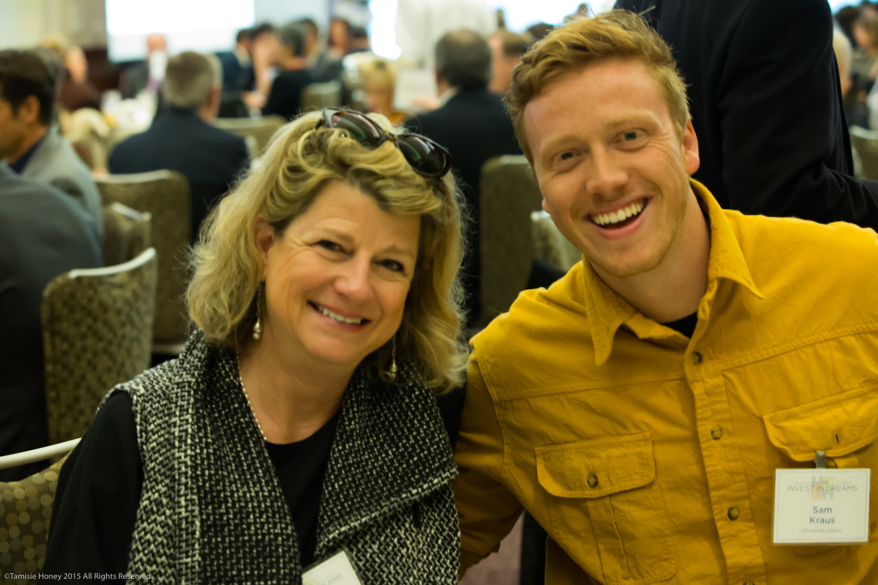 Marianne Mullins and Working Solutions borrower Sam Kraus of Chromaculture