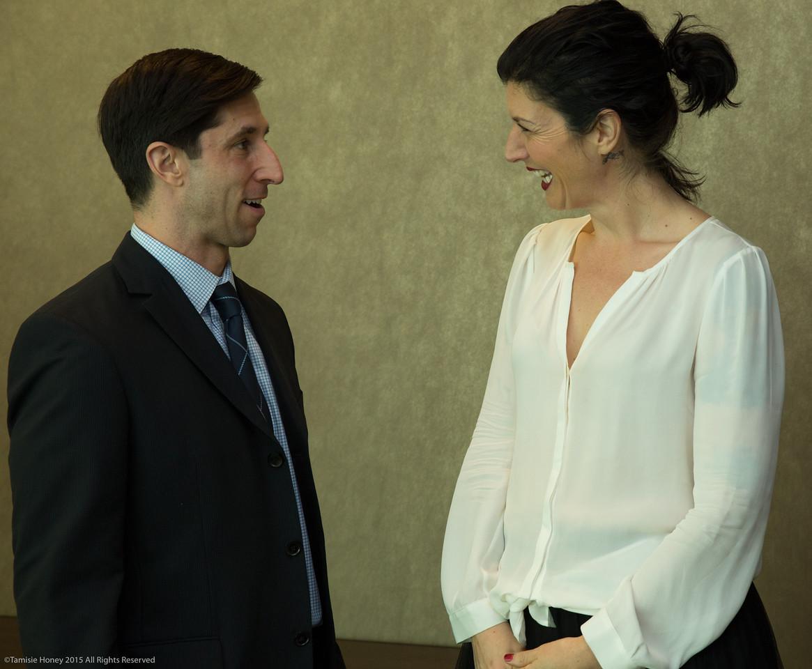 Working Solutions Director Chris Larocca of Wells Fargo and Serafina Palandech