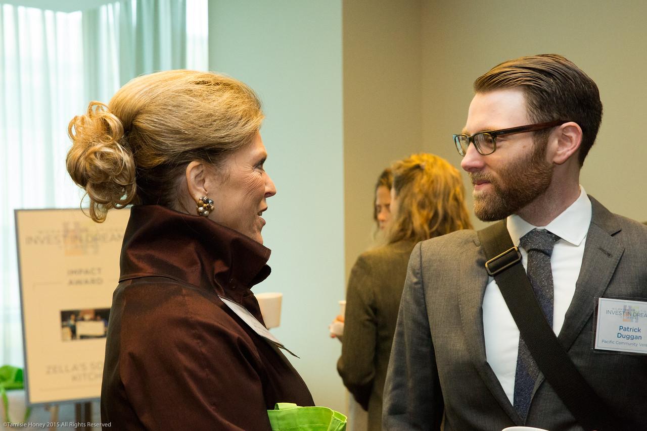 Conni Lemen-Kosla of California Bank & Trust and Patrick Duggan of Pacific Community Ventures