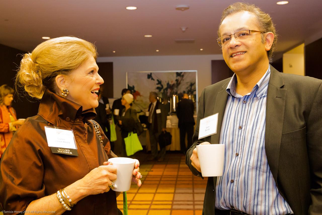 Conni Lemen-Kosla of California Bank & Trust and Sam Berde of Presidio Bank