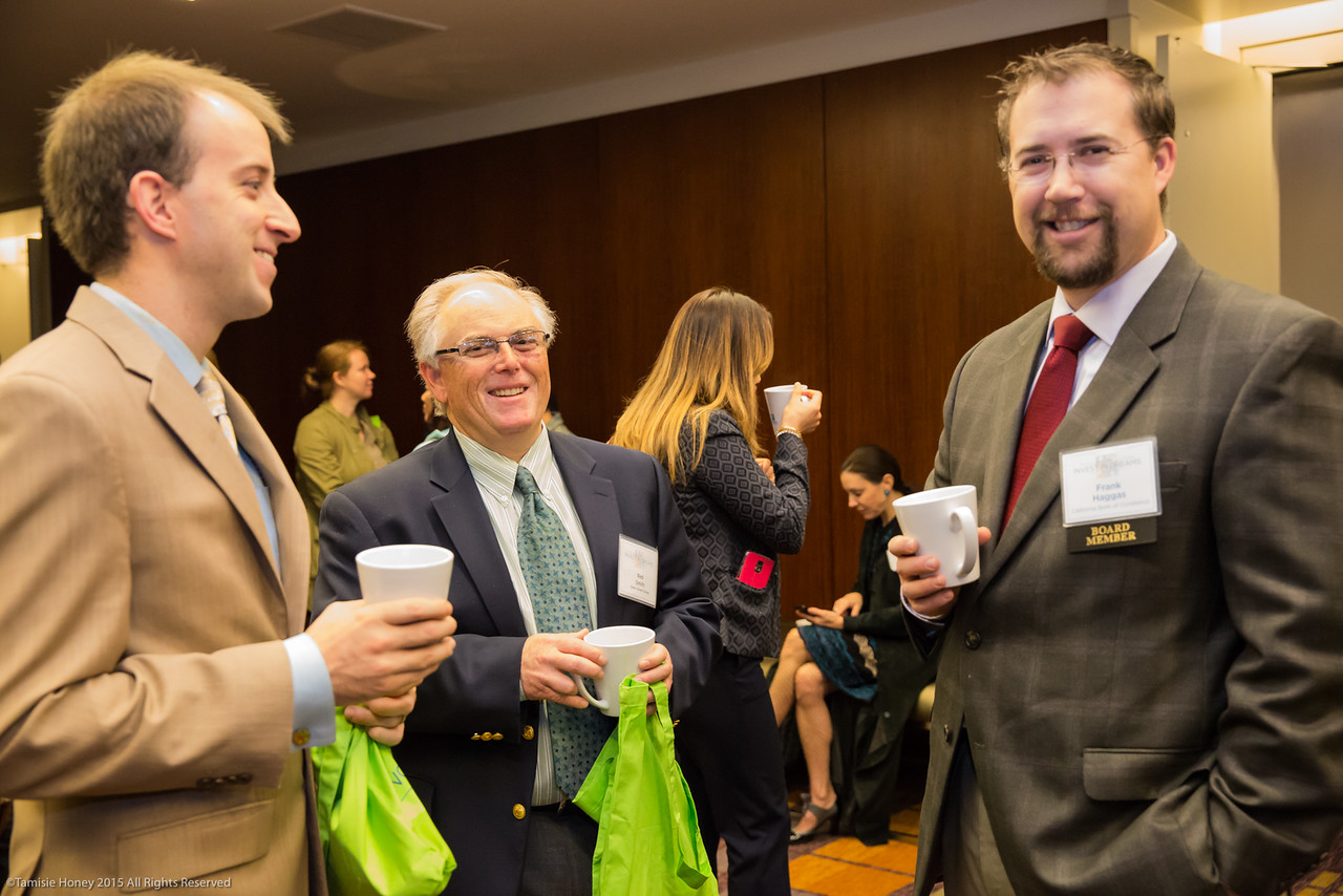 Benjamin Vanderford of Union Bank, Red Smith of Smart Growth Solutions, and Working Solutions Director Frank Haggas of California Bank of Commerce