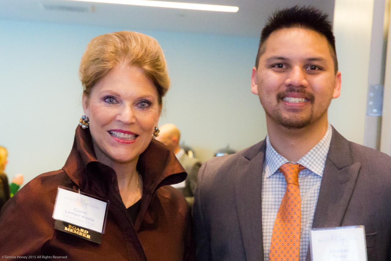 Conni Lemen-Kosla and Vincent Perez of California Bank & Trust