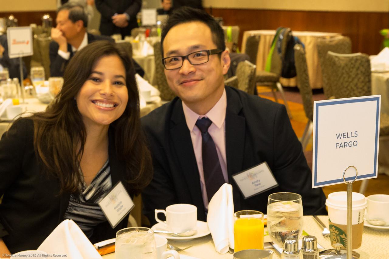 Natalie Wade and Andy Tew of Wells Fargo