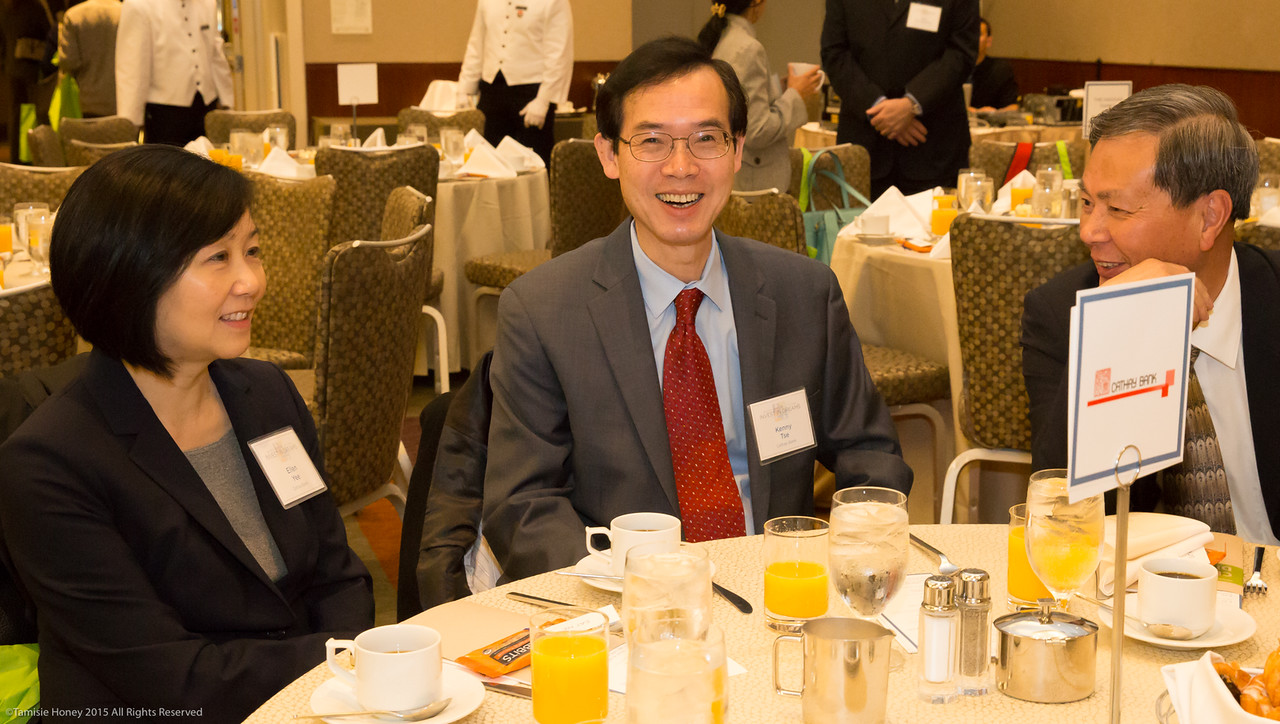Ellen Yee, Kenny Tse, and KK Chan of Cathay Bank