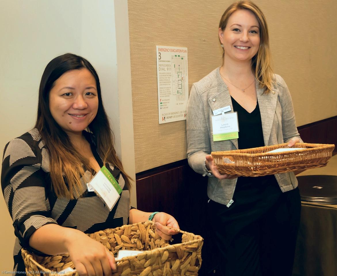 Denise Bethel & Laura Hopkins, volunteers from the Junior League of San Francisco